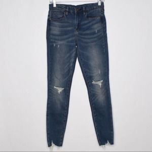 Blank NYC Distressed The Bond Mid Skinny Jeans 27